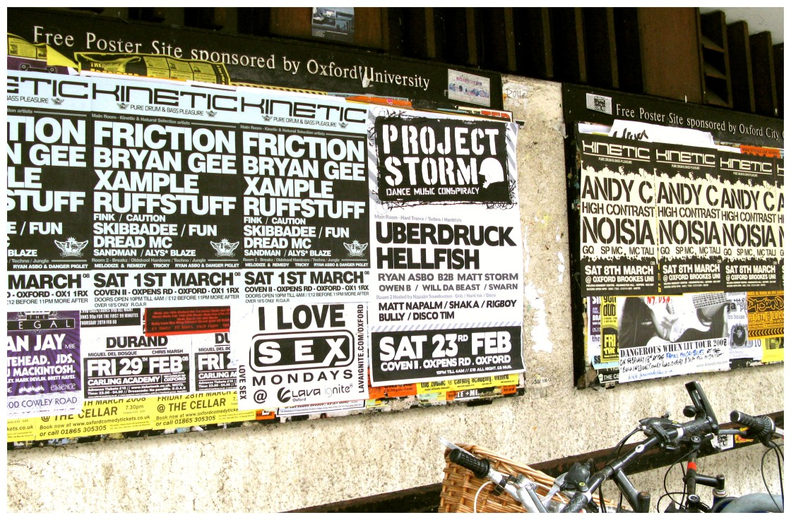 Drum and bass flyers