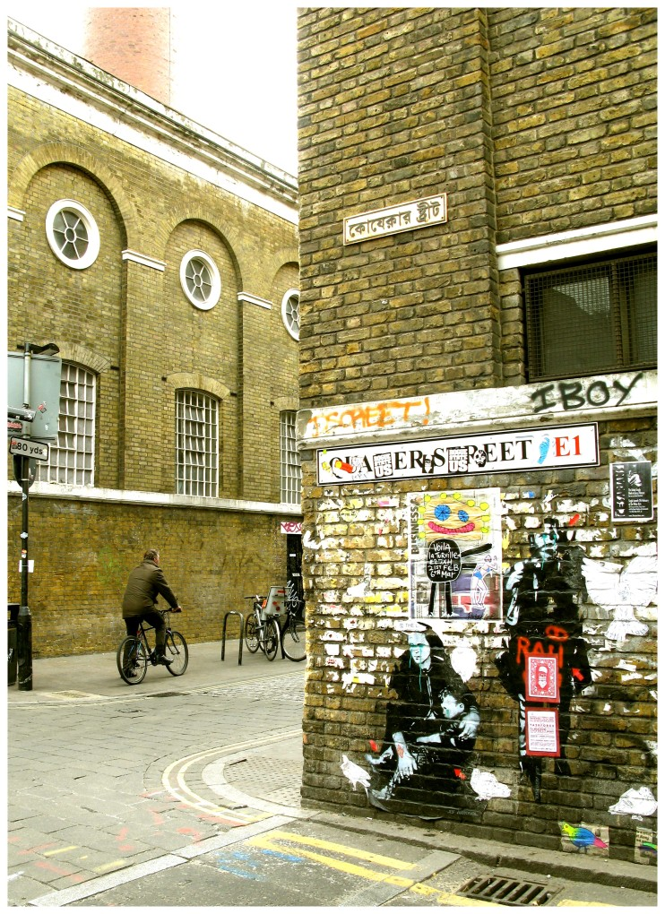 A corner on Brick Lane, London.