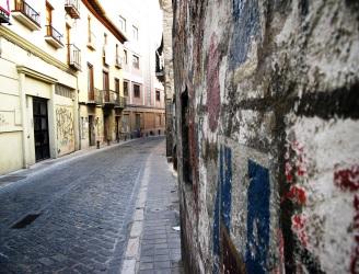 Slightly Curved Street, Granada, Spain.