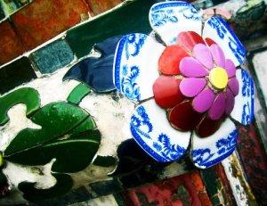 The colors of Wat Arun in Bangkok. Fragments create my world.