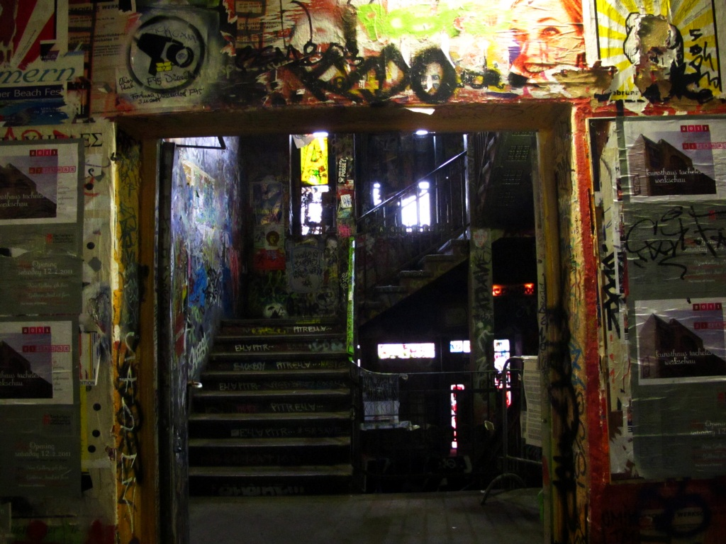 A doorway in the now-gone Kunsthaus Tacheles, Berlin, Germany.