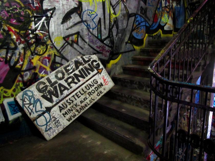 Fallen Sign, Kunsthaus Tacheles, Berlin.