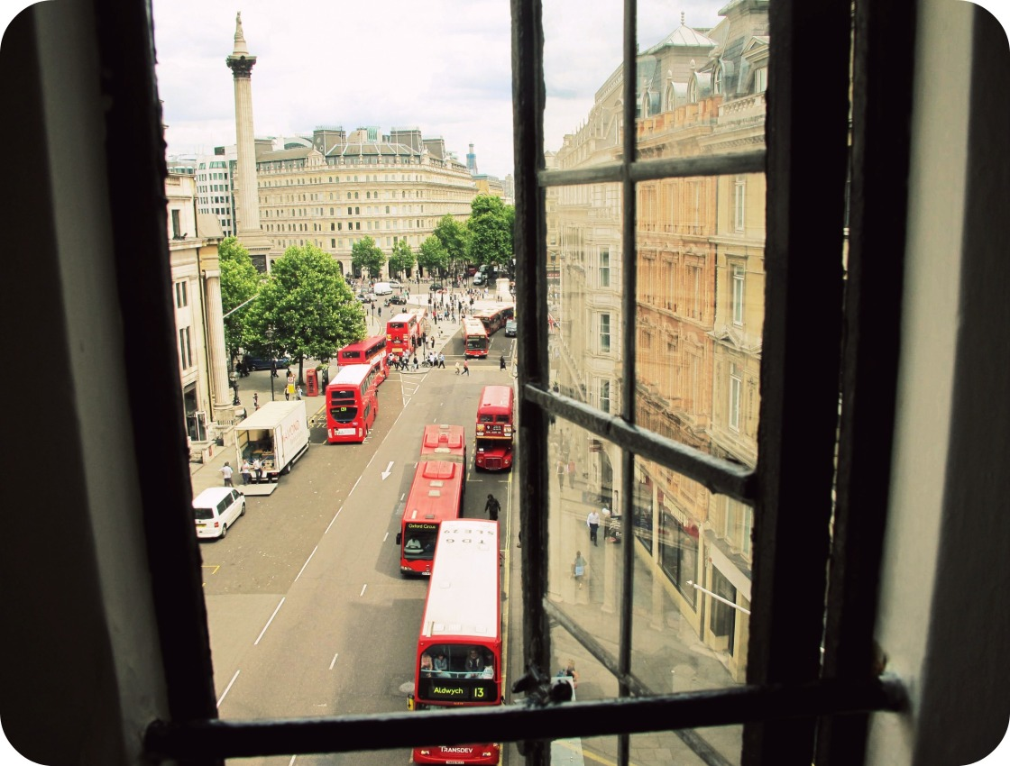 Penthouse View of Trafalgar Square, London, June 2011.