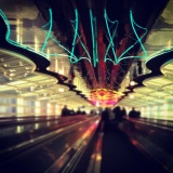 Electric lines and squiggles at Chicago O'Hare