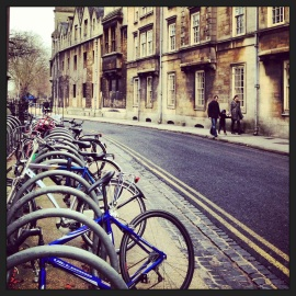 Bikes in Oxford.