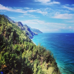 Na Pali Coast from Kalalau Trail