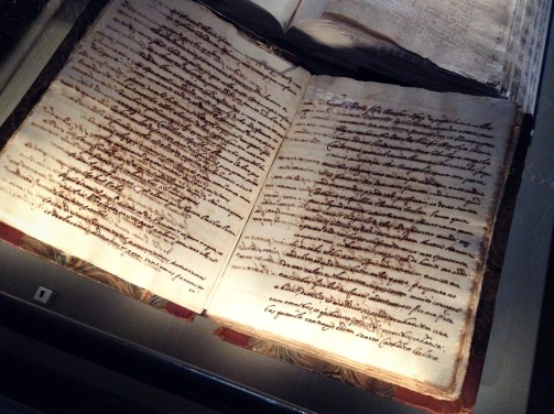 An old manuscript at Trinity College.