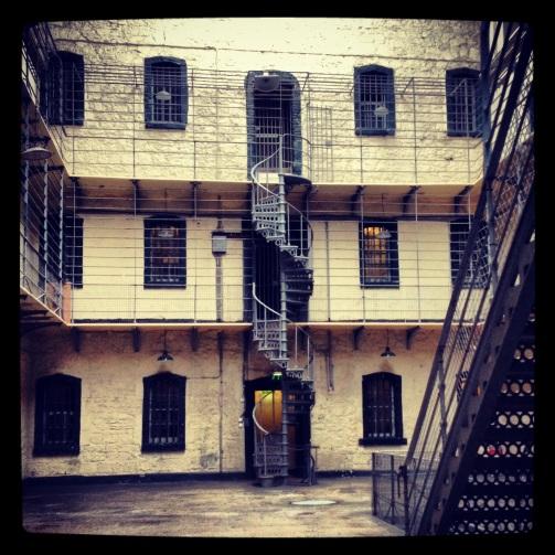 Kilmainham Gaol, a former prison in Dublin, Ireland.