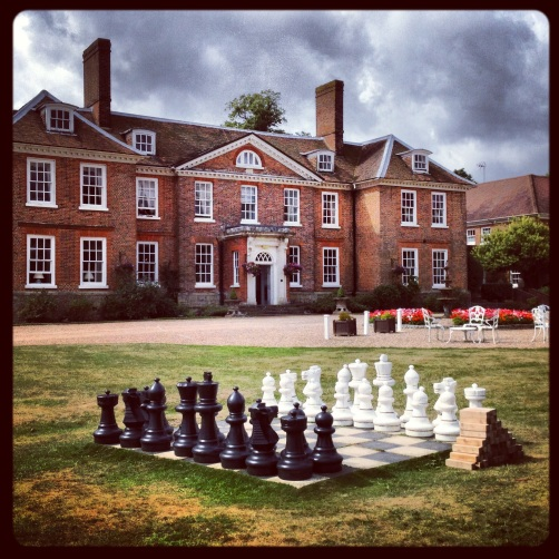Chess at Chilston Park Hotel. Lenham, Kent.