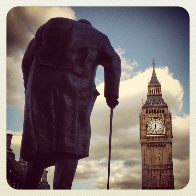 Winston Churchill and (Not-So) Big Ben.