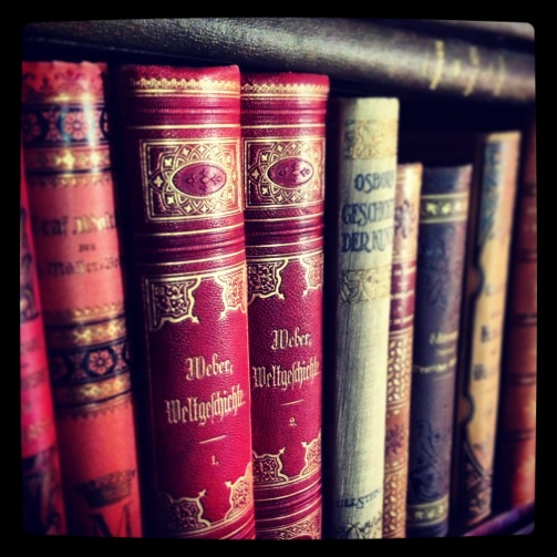Antiquarian books at Rockelstad Castle.