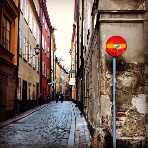 An alleyway in Stockholm.