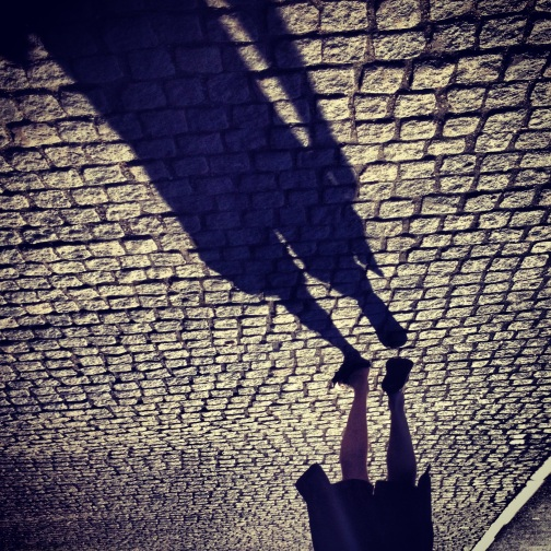 Walking shadow in Stockholm.