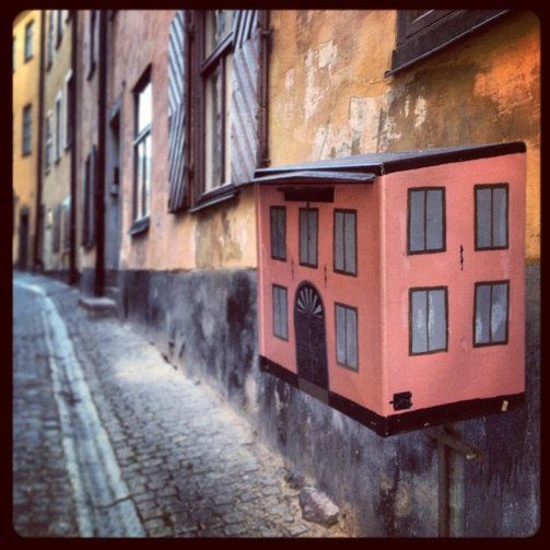 Little house in an alley in Stockholm.