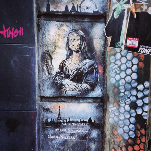 Mona Lisa, redux. Brick Lane.