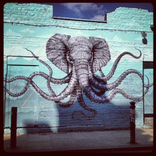 Octophant. Brick Lane.
