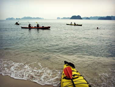 Kayaking and Swimming