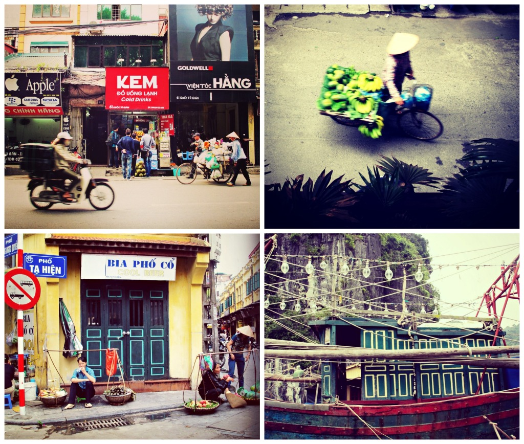 scenes from hanoi and halong bay