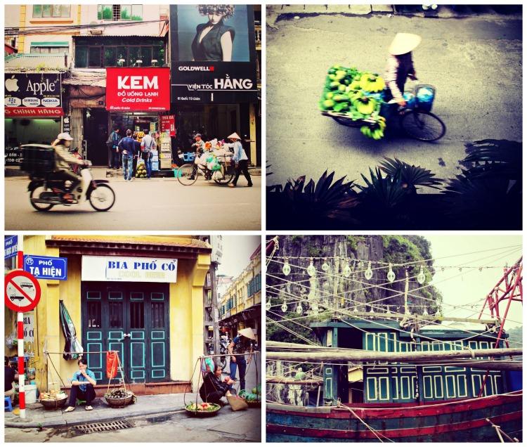 scenes from hanoi and halong bay