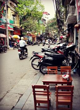 Motorbiker on the Street