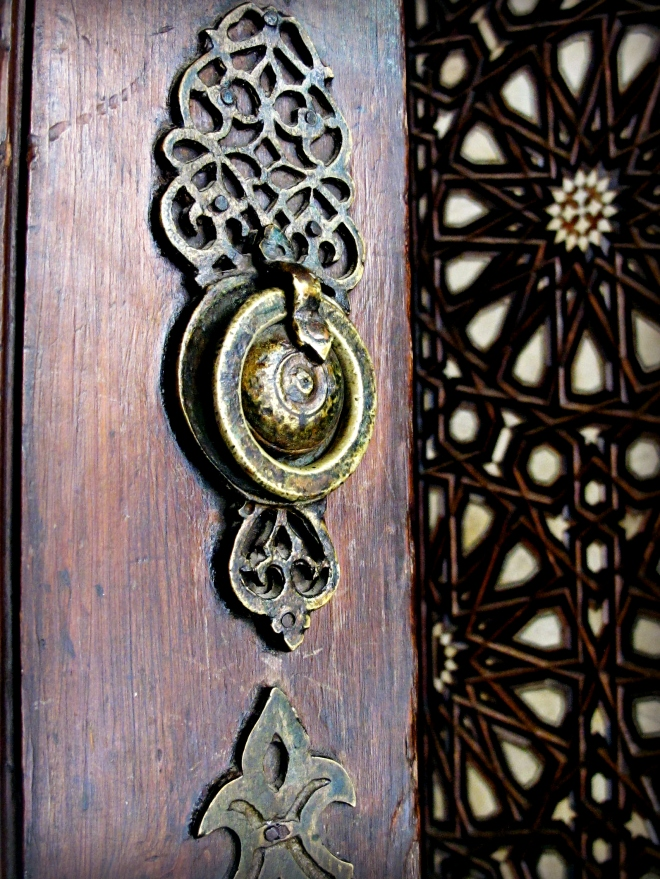 A door detail in Cairo, Egypt.