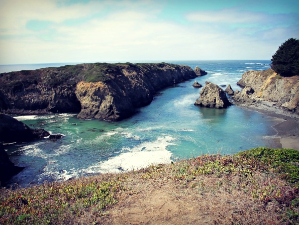 View of the Pacific in the Mendocino Headlands.
