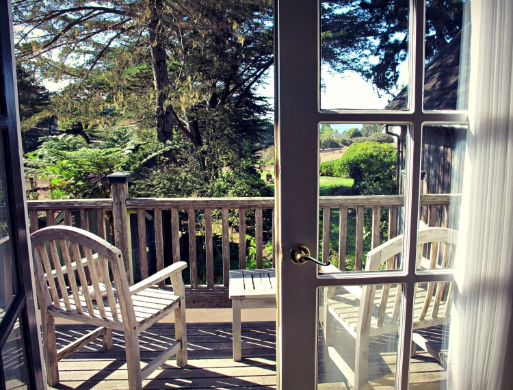 Balcony of the Briar Rose suite at Glendeven Inn, Mendocino