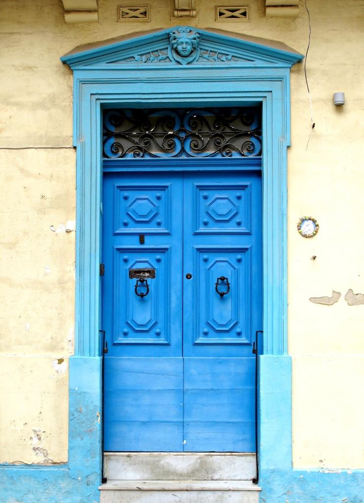 Blue door in Valletta
