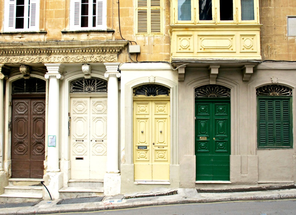 Series of doors in Valletta