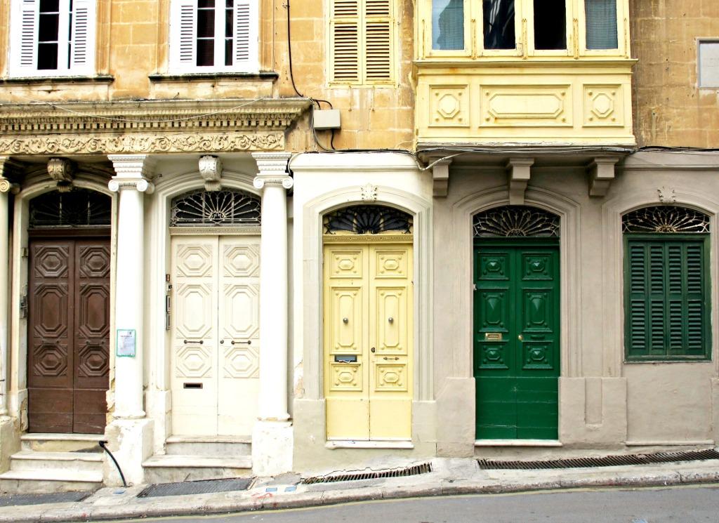 Series of doors in Valletta