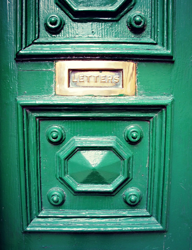 Letterbox on a door in Valletta