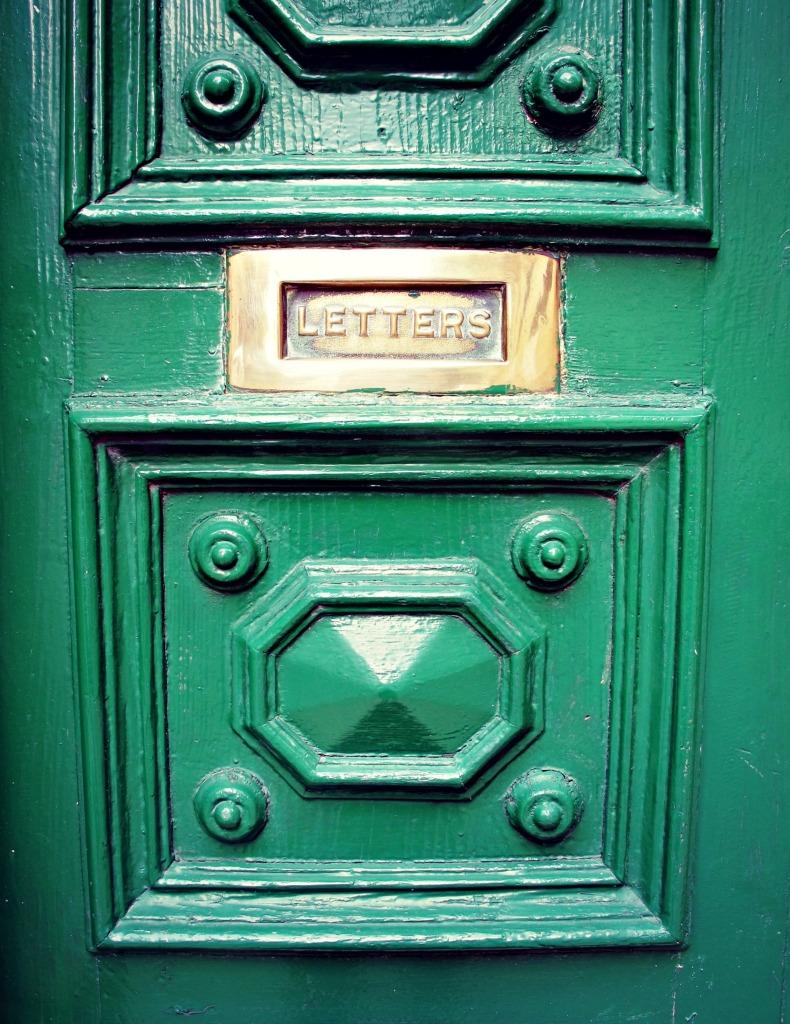 Letterbox on a door in Valletta
