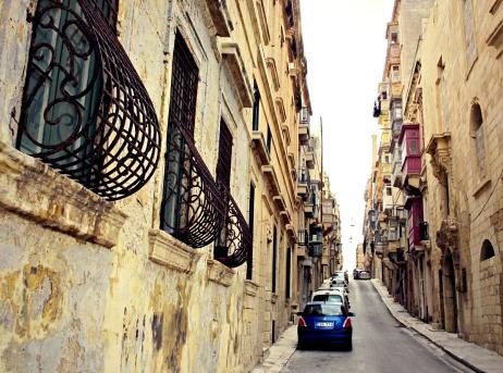 Ironwork along a street