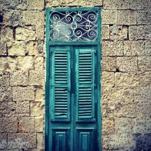 A green door in Malta.