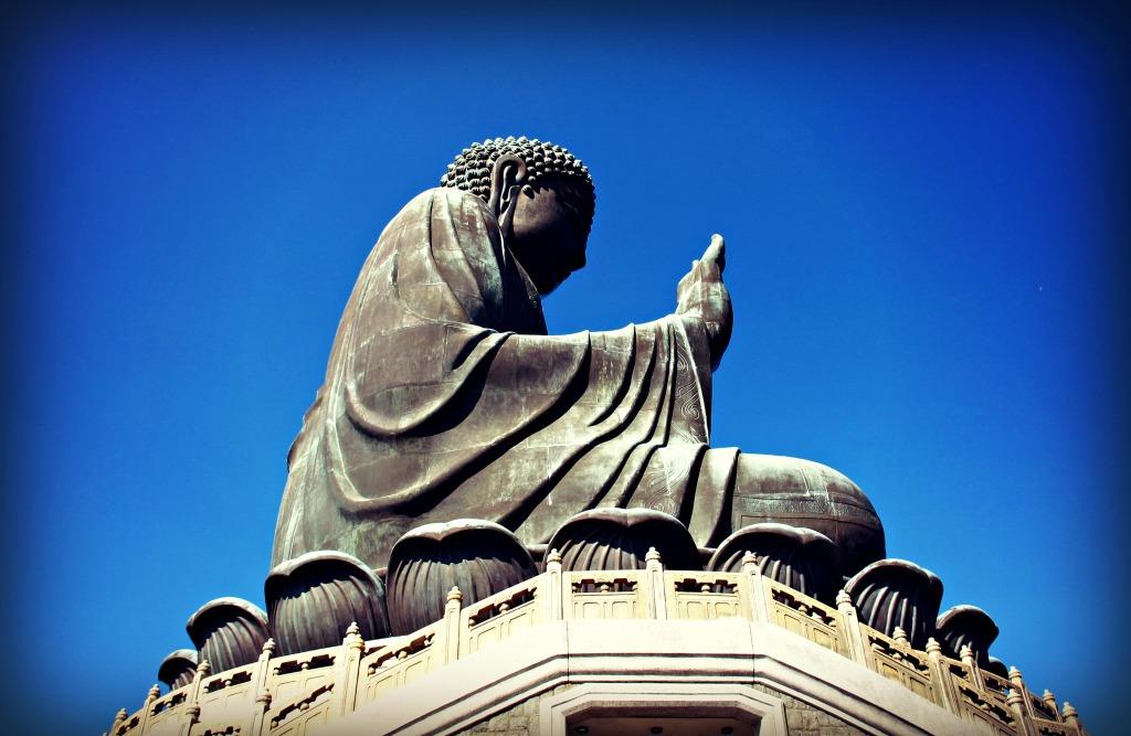 Tian Tan Buddha (Big Buddha) in Ngong Ping on Lantau Island.