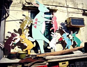 Art in Tai O fishing village.