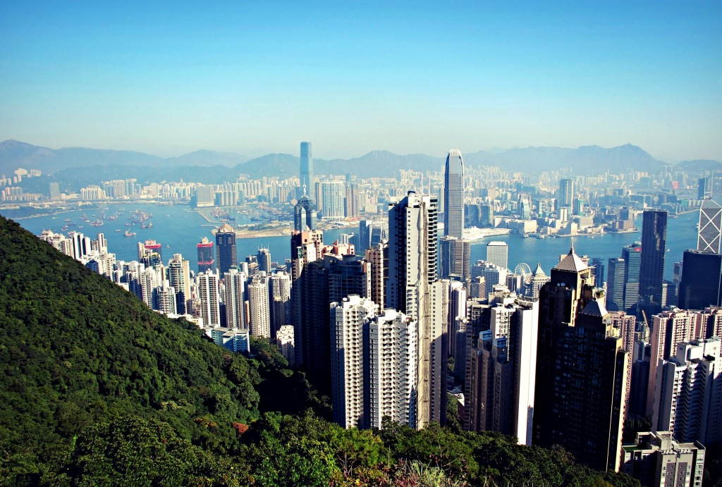 View of Hong Kong Island from Victoria Peak.
