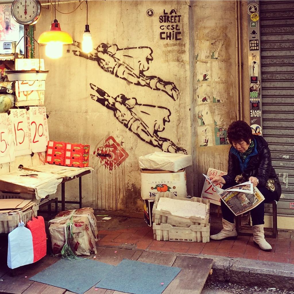 Street art in Sheung Wan.
