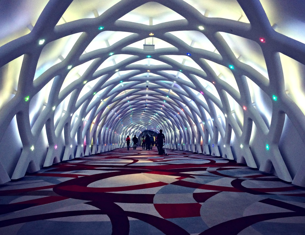 The trippy entrance to the City of Dreams, an entertainment and hotel complex on the Cotai Strip.