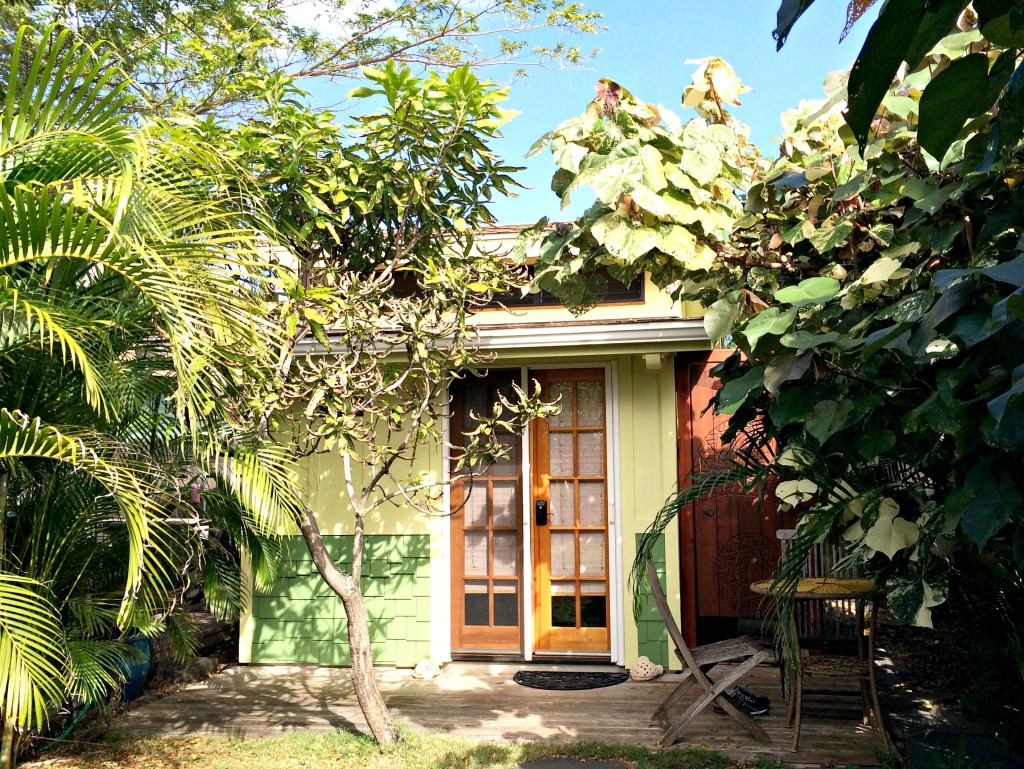 The Coconut, a micro-house in the backyard of a home in Kailua, Oahu, where we stayed earlier this month.