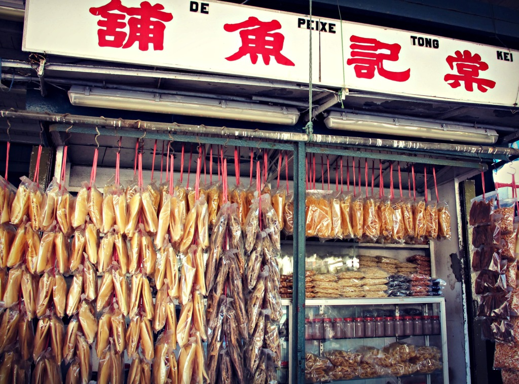 Fish for sale at the Coloane Pier.