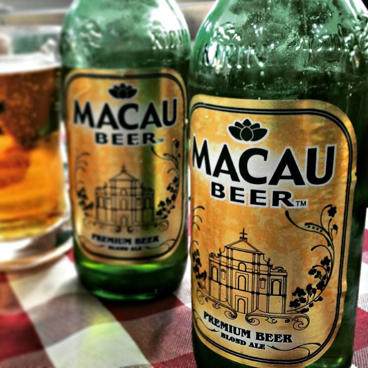 Macau beer at Nga Tim Cafe on Rua do Caetano.