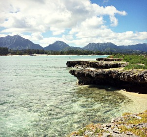Another view from Flat Island, looking toward Kailua Beach.
