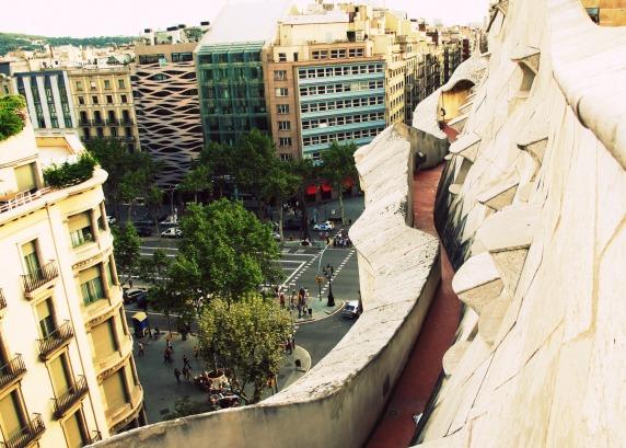 Atop La Pedrera, Barcelona