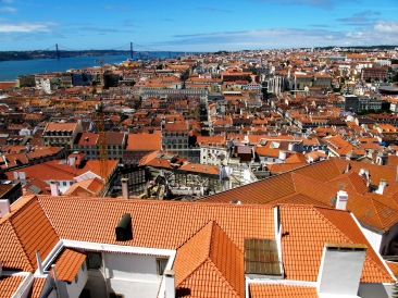 View of Lisbon from Miradouro de Castelo Sao Jorge