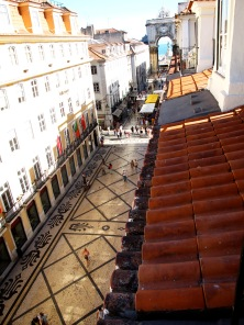 View of Rua Augusta from Travellers House, Lisbon
