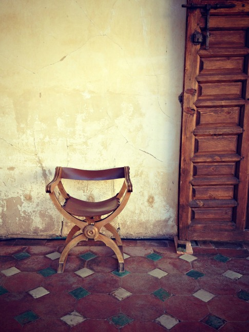 Chair, Alhambra, Granada, Spain