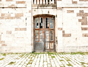 A grand, old building in the Victualling Yard at the Dockyard, Bermuda.