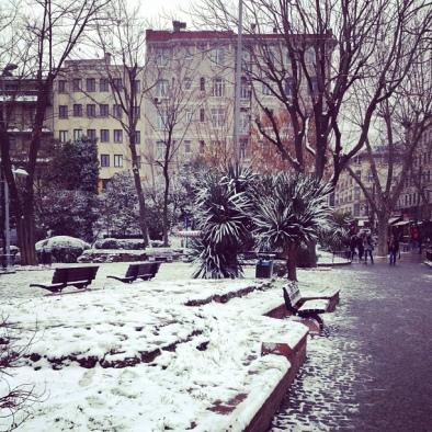 Light Snow in Sultanhamet, Istanbul