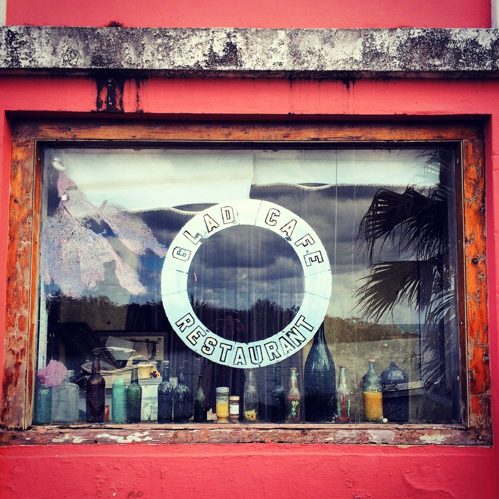 An old storefront in Tobacco Bay.